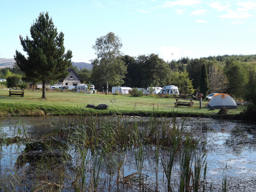 A view of Glentrool Camping and Caravan Site in Dumfries and Galloway south west Scotland the perfect camping and caravan site Scotland