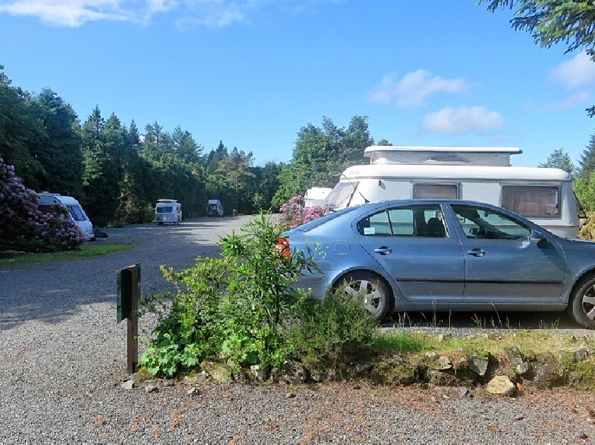 Hardstanding for Campervans and RVs at Glentrool Camping and Caravan site