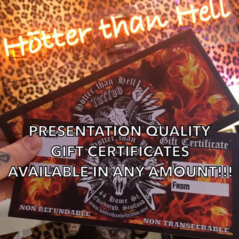 Gift Certificate £20 - £200