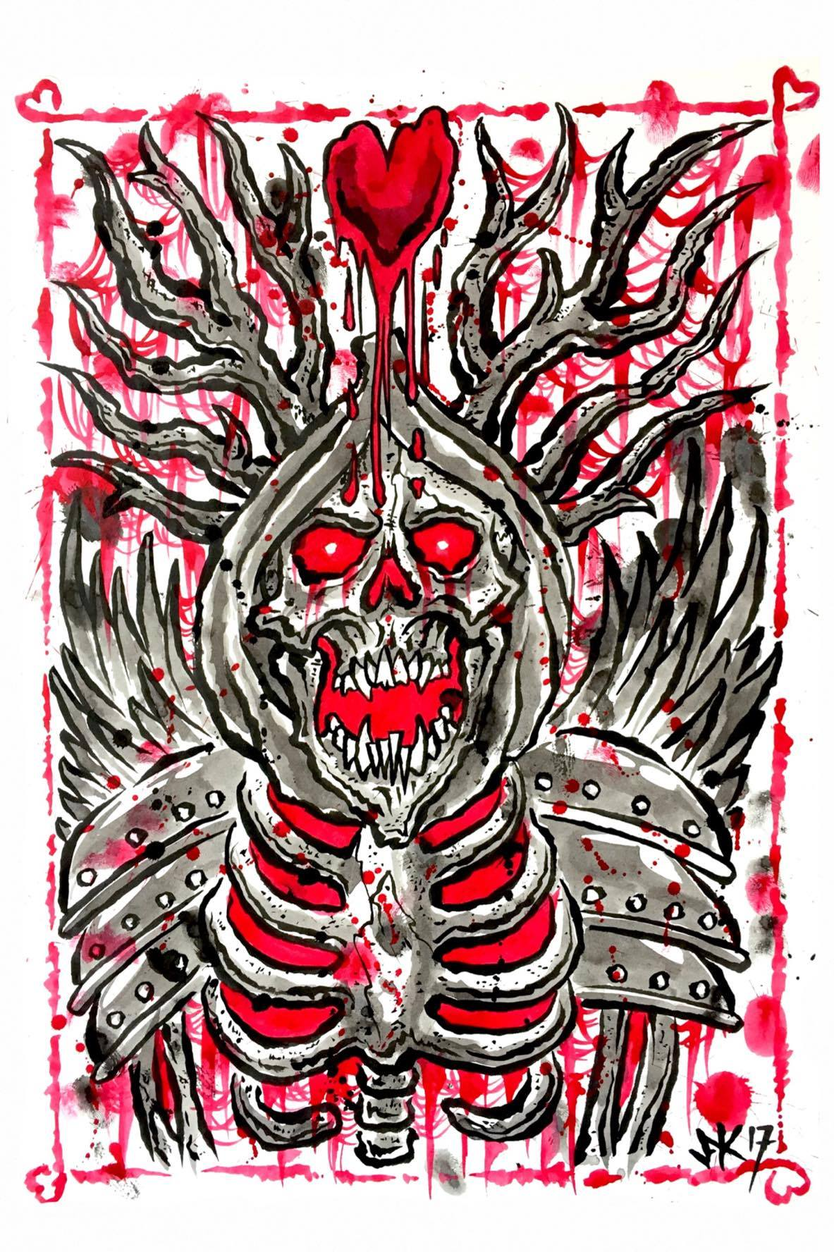Horned King and Queen A3 Prints by JFK