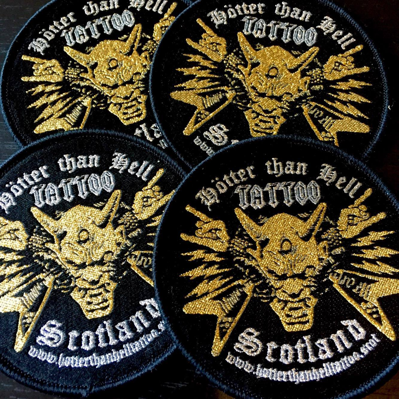 Round Woven Patch