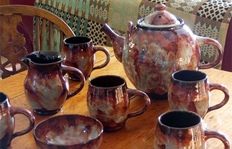 Ewenny Pottery Tea Set