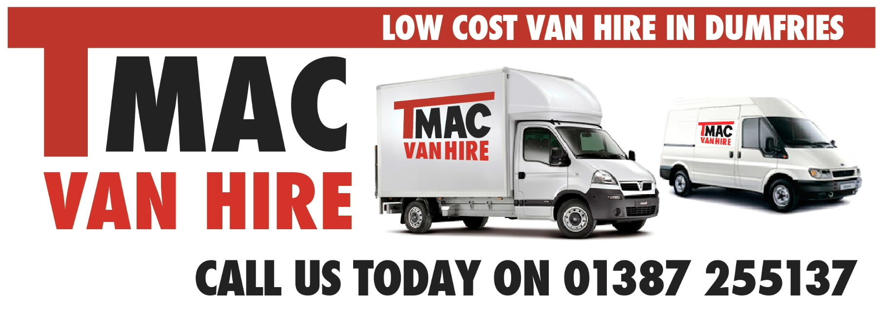 Dumfries Van Hire Rental company T Mac Van Hire