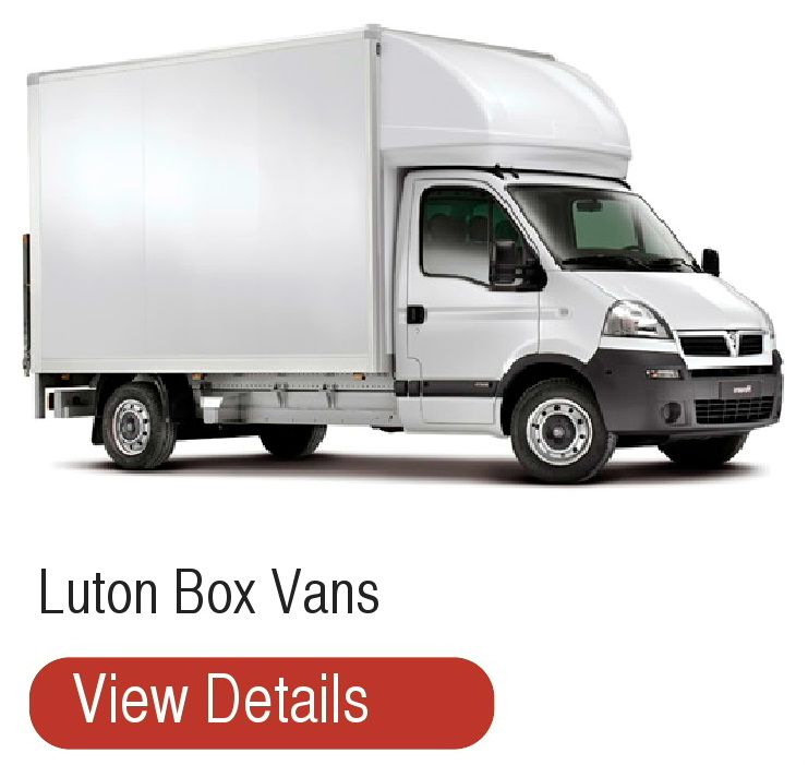 Luton Box Vans for hire from T Mac Van Hire Dumfries