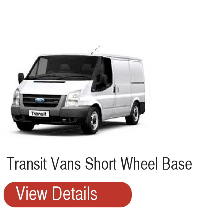 Short wheel base Transit vans for hire T Mac Van Hire Dumfries
