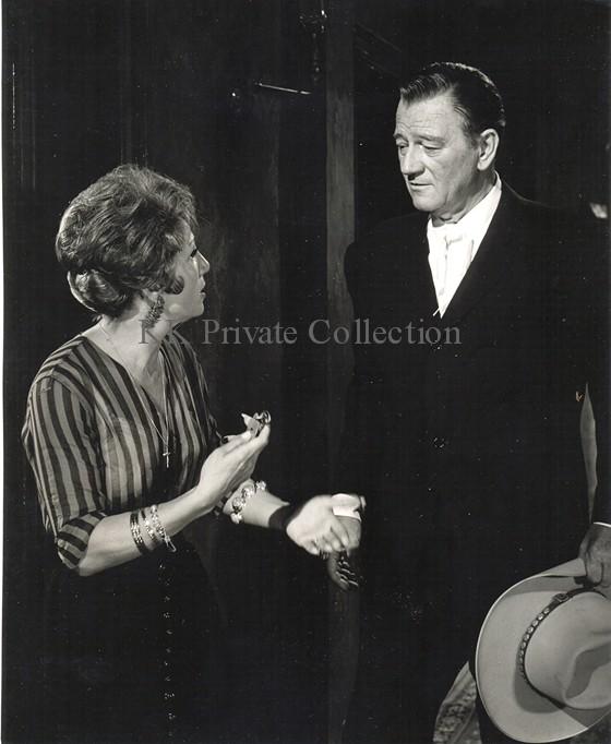 Katherine Kath with John Wayne 1964