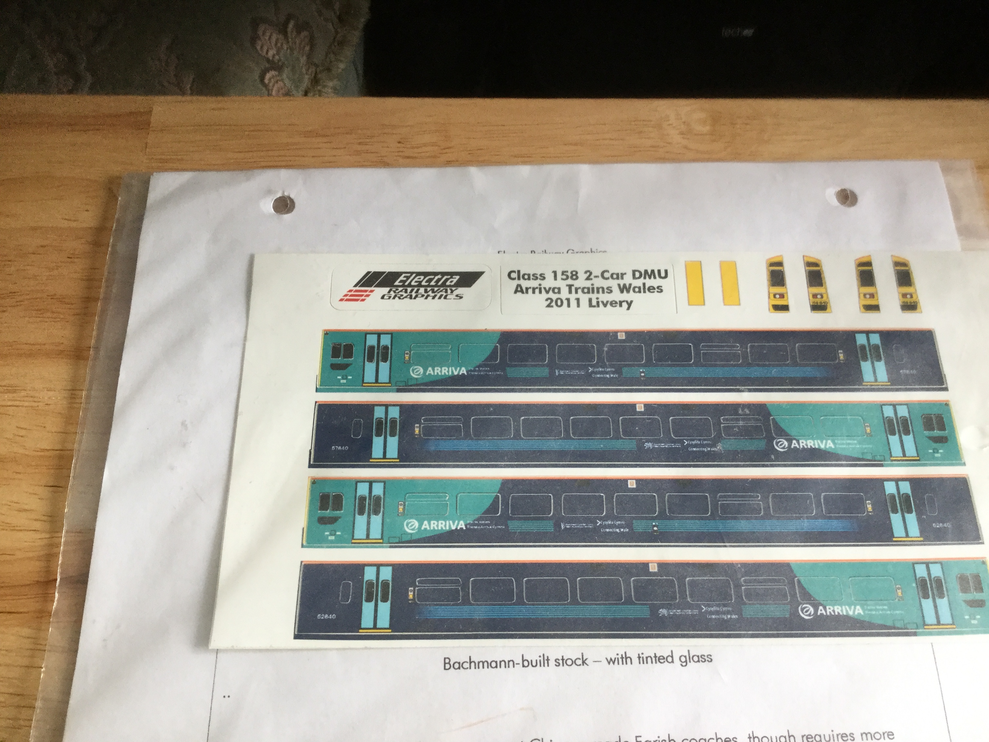 Electra Class 158 2-car DMU Arriva Trains Wales 2011 Livery