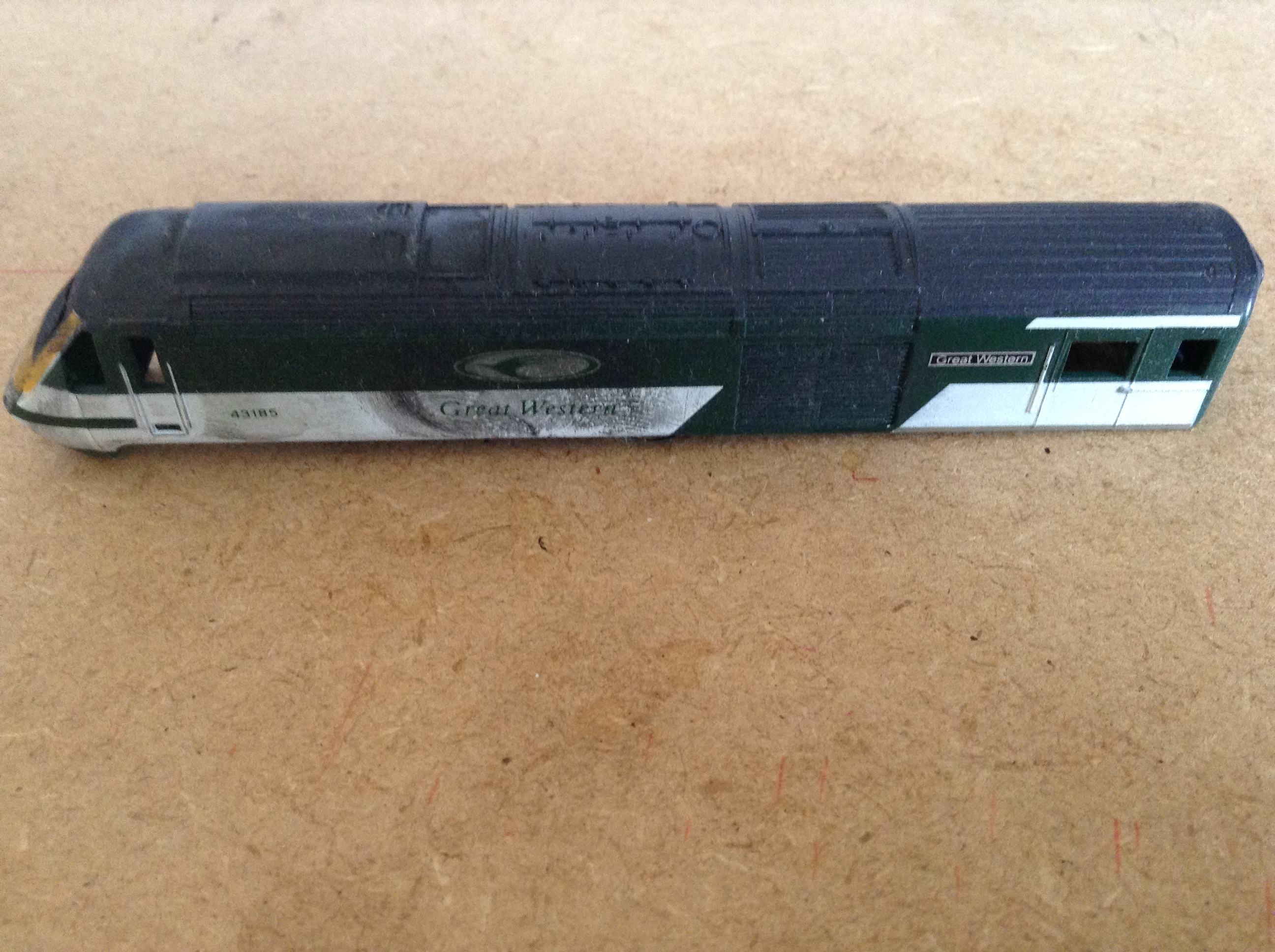 HST Power car 43185 Great Western Weathered