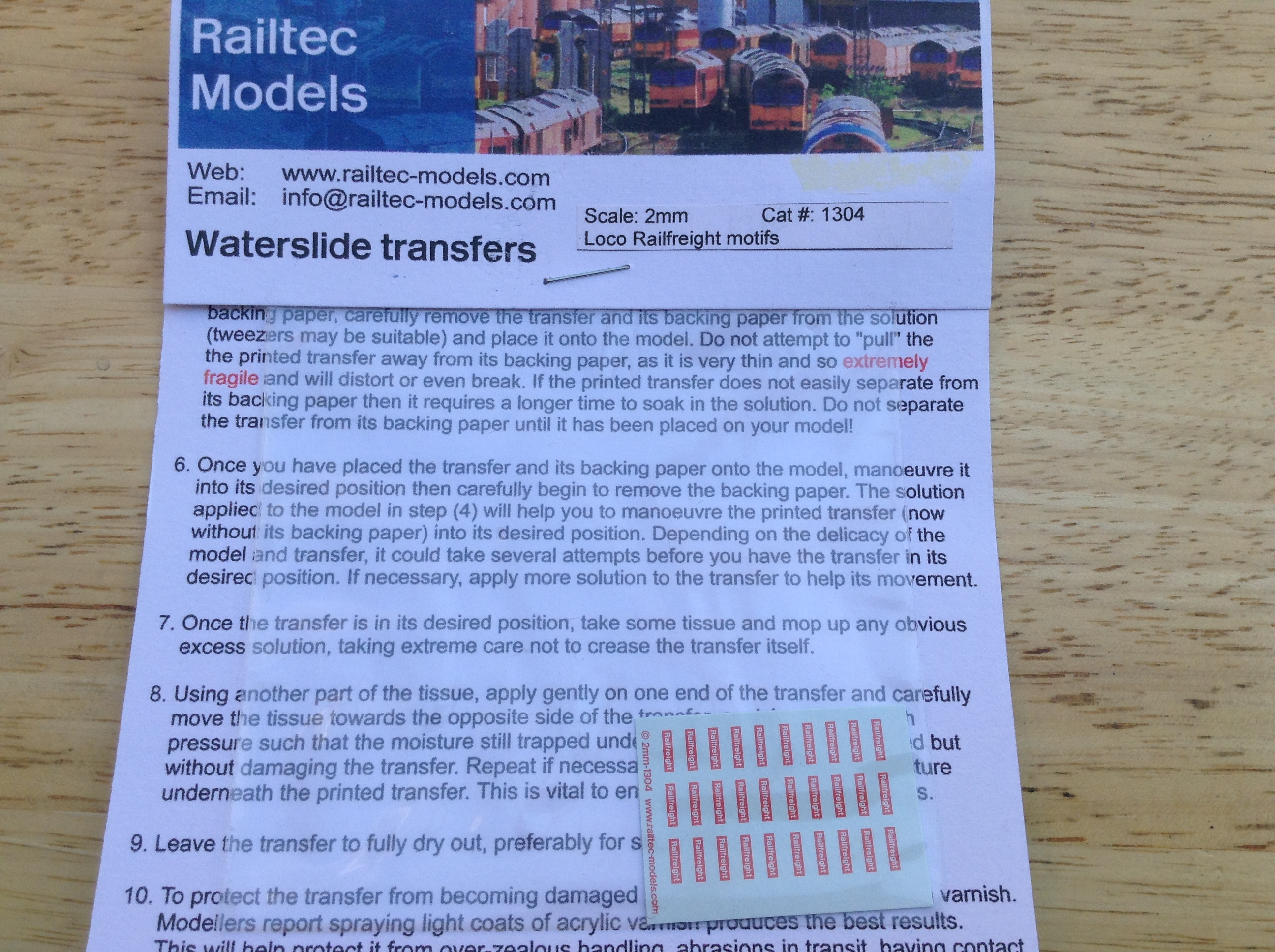 Railtec 1304 Loco Railfreight Motifs
