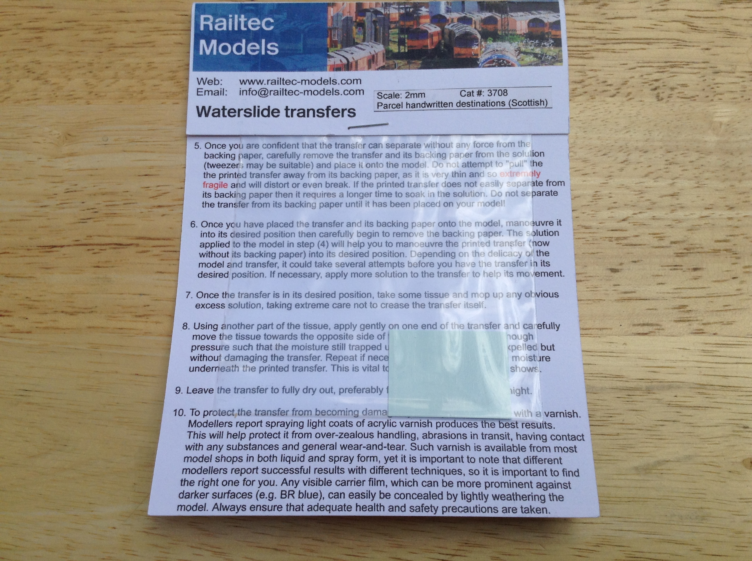 Railtec 3708 Parcel Handwritten Destinations (Scottish)