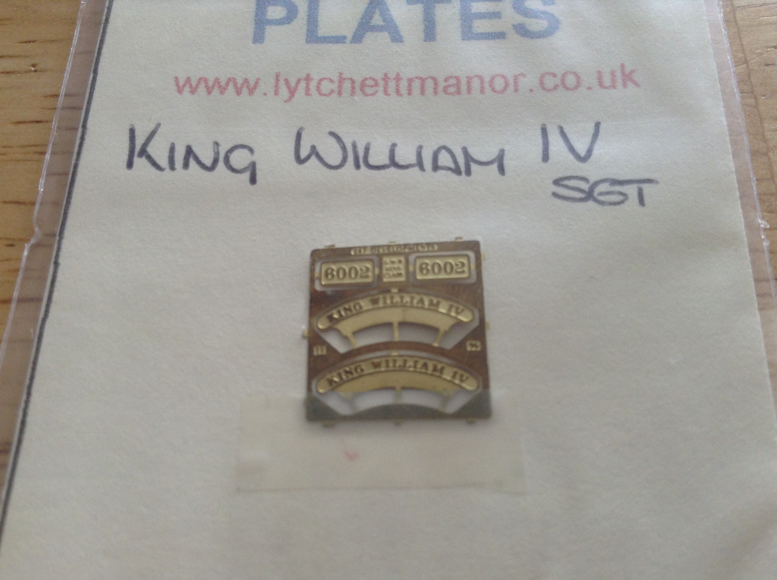 King William IV set UP