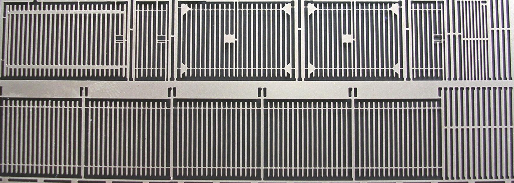 N705 Modern 8ft Paling Security Fencing & Gates