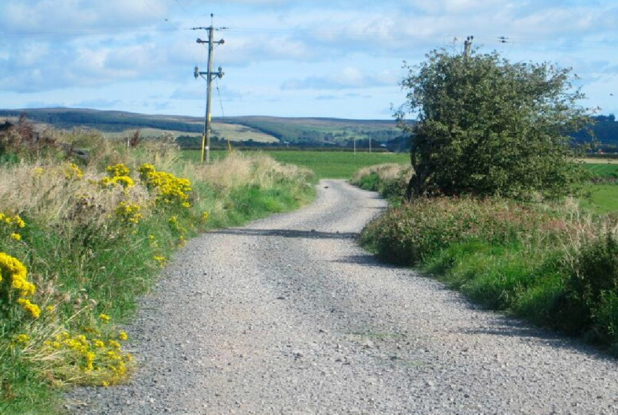 Access road construction by Torbet Plant of Stranraer