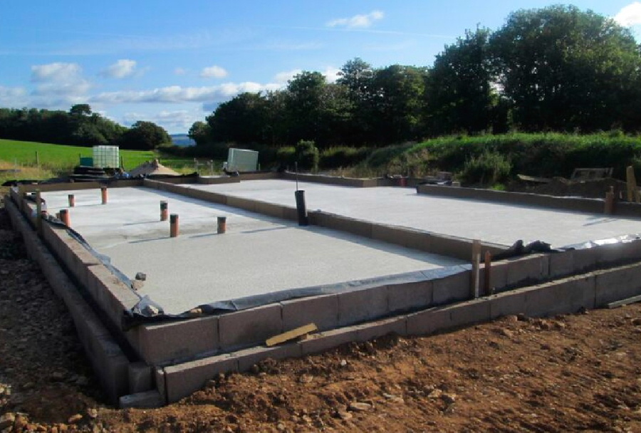 Concrete bases by Torbet Plant of Stranraer