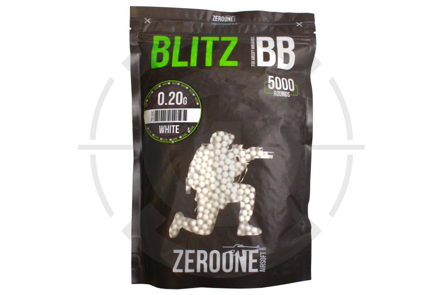 Zero One Blitz BB 0.20g 5000rds (White) Special Offer 10 Bags
