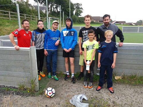 Players from 5-a-side football in Narberth