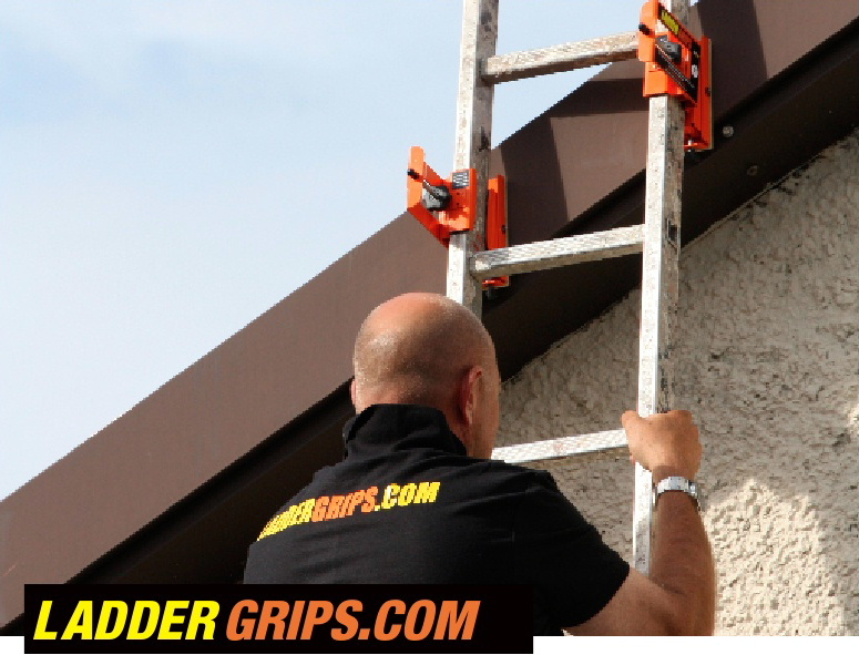 Ladder safety device Ladder Grips