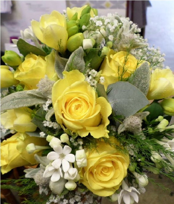 Bouquets can reflect your chosen colour scheme for your wedding
