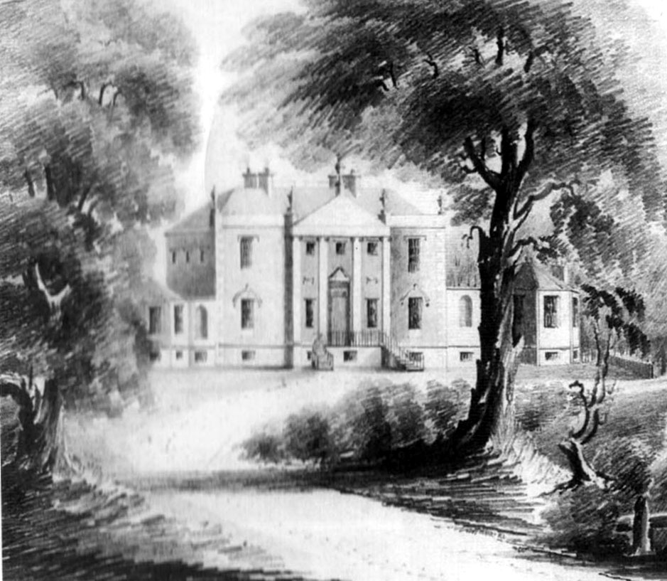 Kirkbean Parish Heritage Society  An old drawing of Arbigland House
