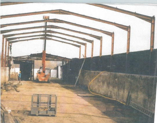 Construction of a farm barn Kirkbean
