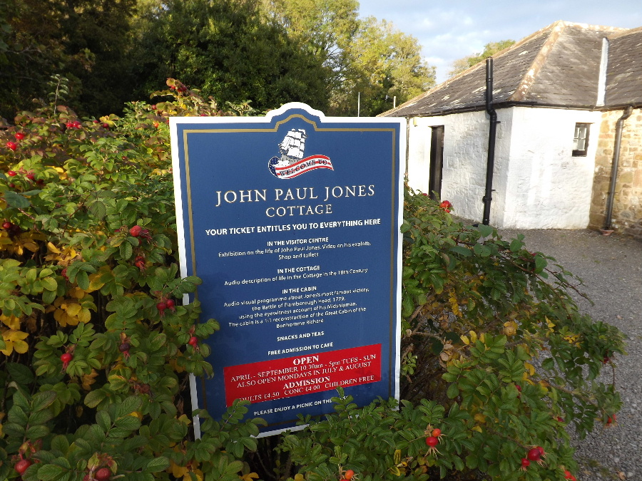 Sign announcing the John Paul Jones Museum
