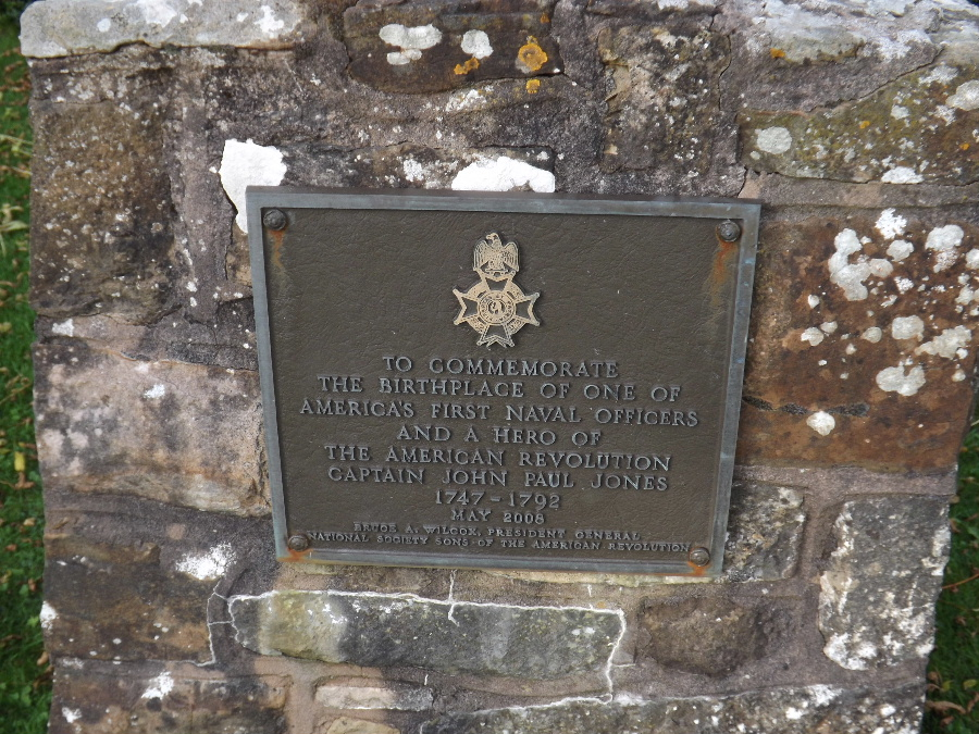 Kirkbean Parish Heritage Society A commeration plaque to John Paul Jones Founding Father of the U.S. Navy at Arbigland Estate, Scotland