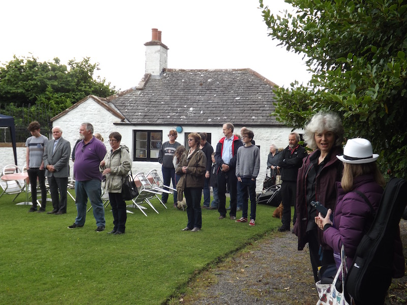 Visitors pictured at an American Indpendence Day event held at the John Paul Jones Museum in Scotland