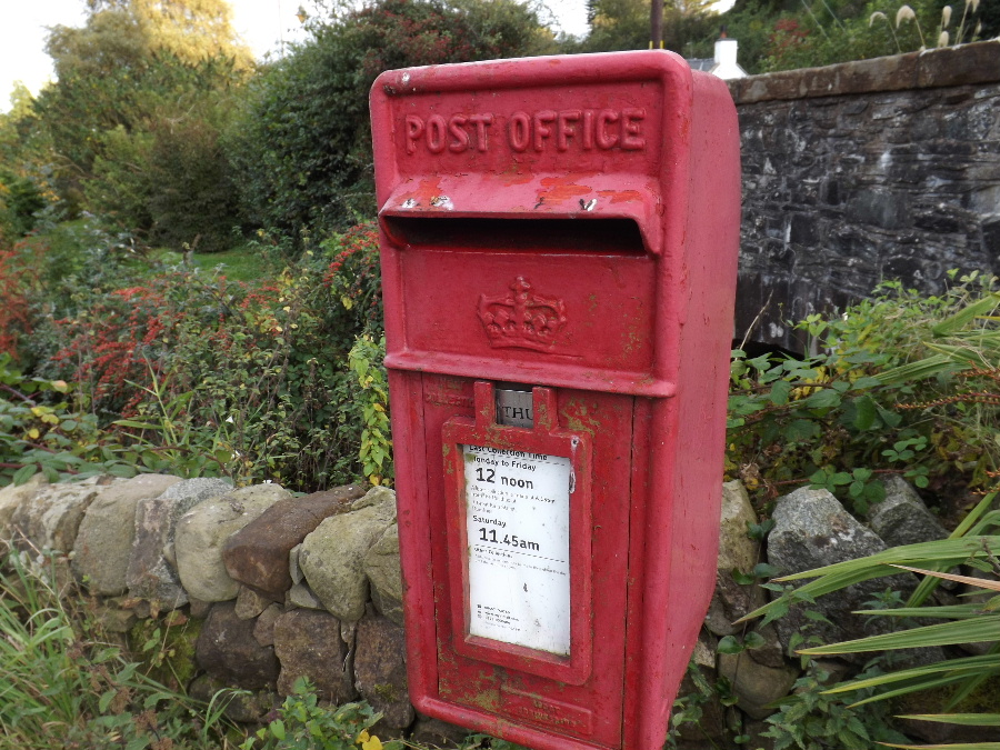 Kirkbean Community Council letter box in the village