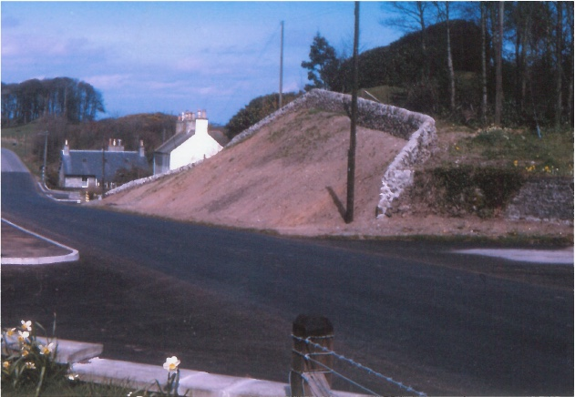 New road layout and banking in Kirkbean