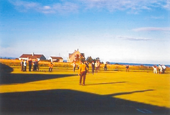 Playing bools at Southerness in 1960