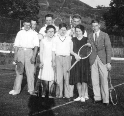 Playing tennis in Kirkbean