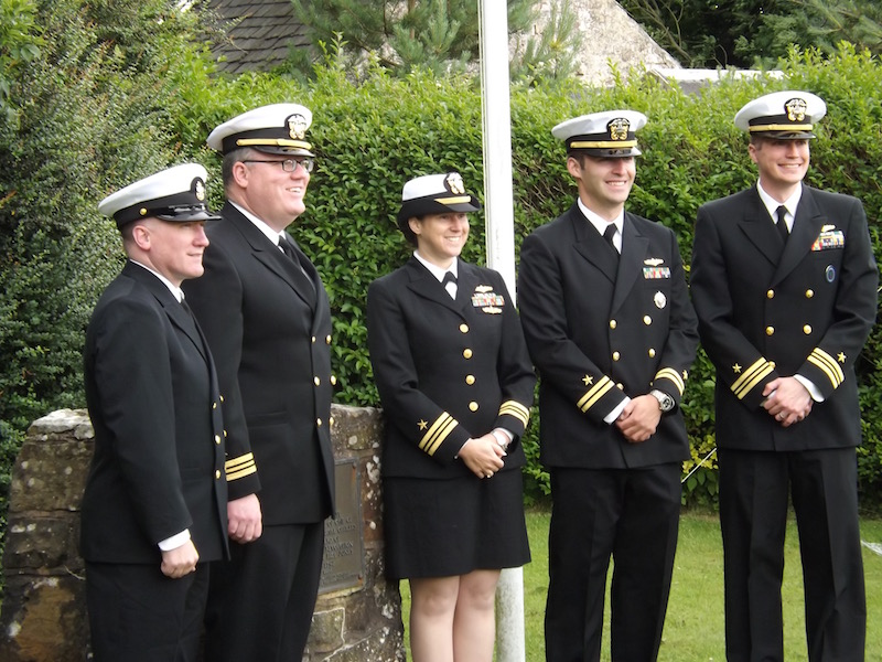 U>S> NAvy at the John Paul Jones Museum Scotland July 2016