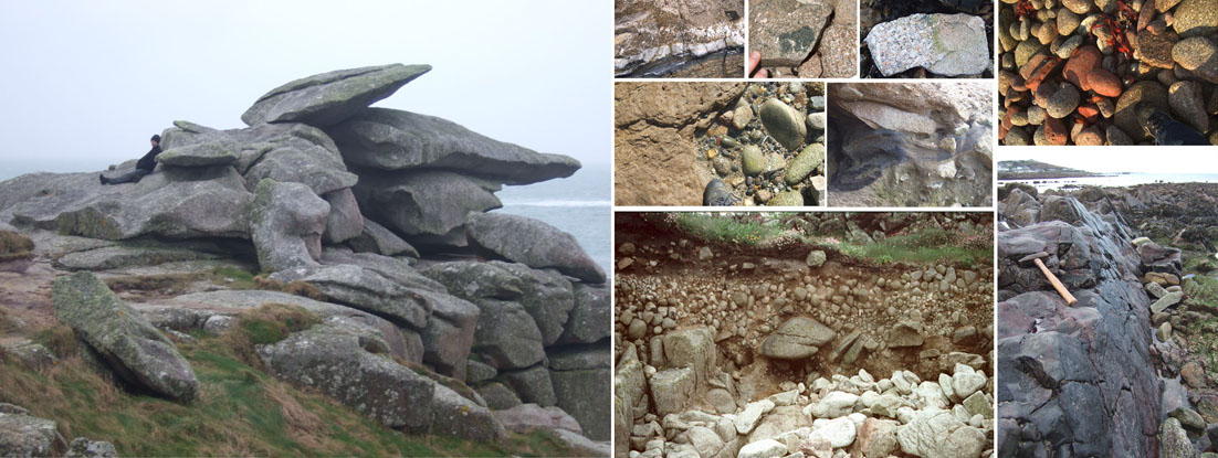 Collage of rock formations