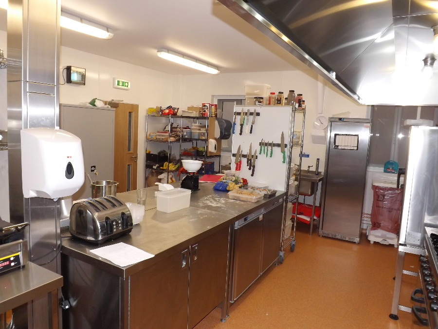 The kitchen at The Usual Place Community Cafe Dumfries