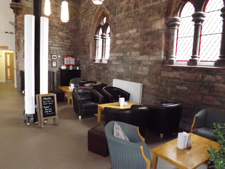 Comfortable seating at The Usual Place Community Cafe Dumfries