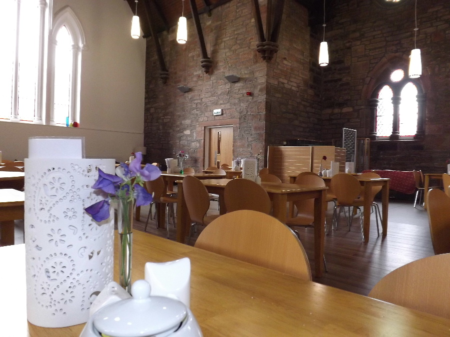 The cafe area at The Usual Place Community Cafe Dumfries