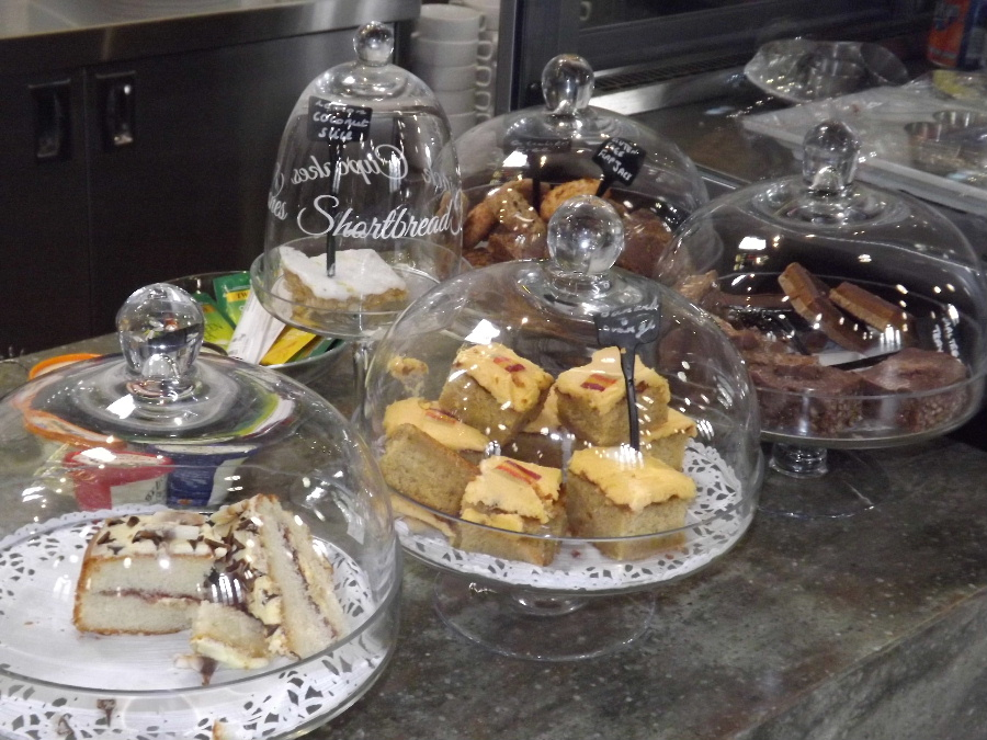 Cakes at The Usual Place Community Cafe Dumfries