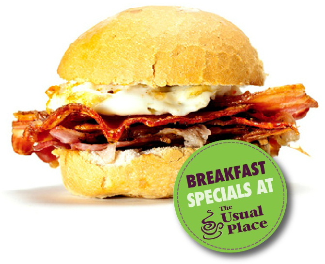 Breakfast Specials at The Usual Place Cafe Dumfries