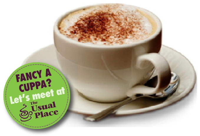 Enjoy a coffee at The Usual Place Cafe Dumfries