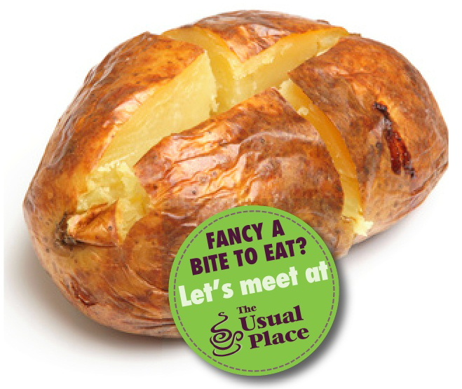 Enjoy a jacket potato at The Usual Place Cafe Dumfries