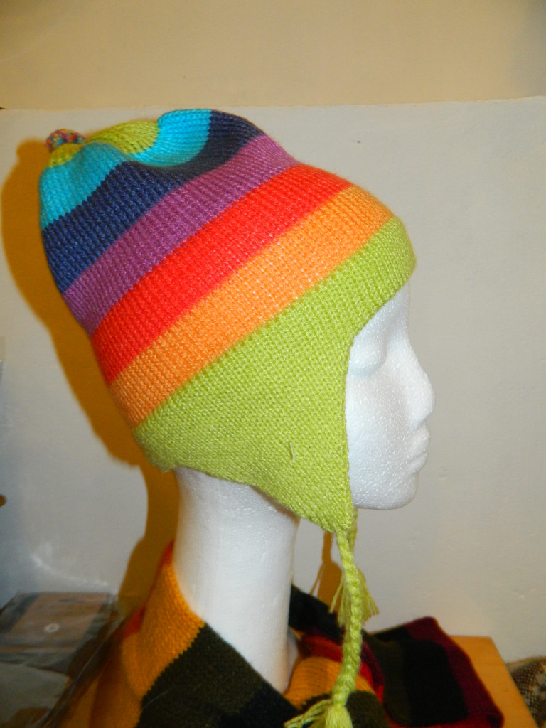 Hat - Ear Flap, Striped