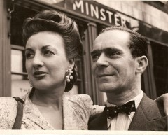 Jo Mattli, Swiss born British couturier and his wife Claude in 1947 - Photograph courtesy of Dr Ness