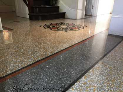 Terrazzo florestoration polishing London