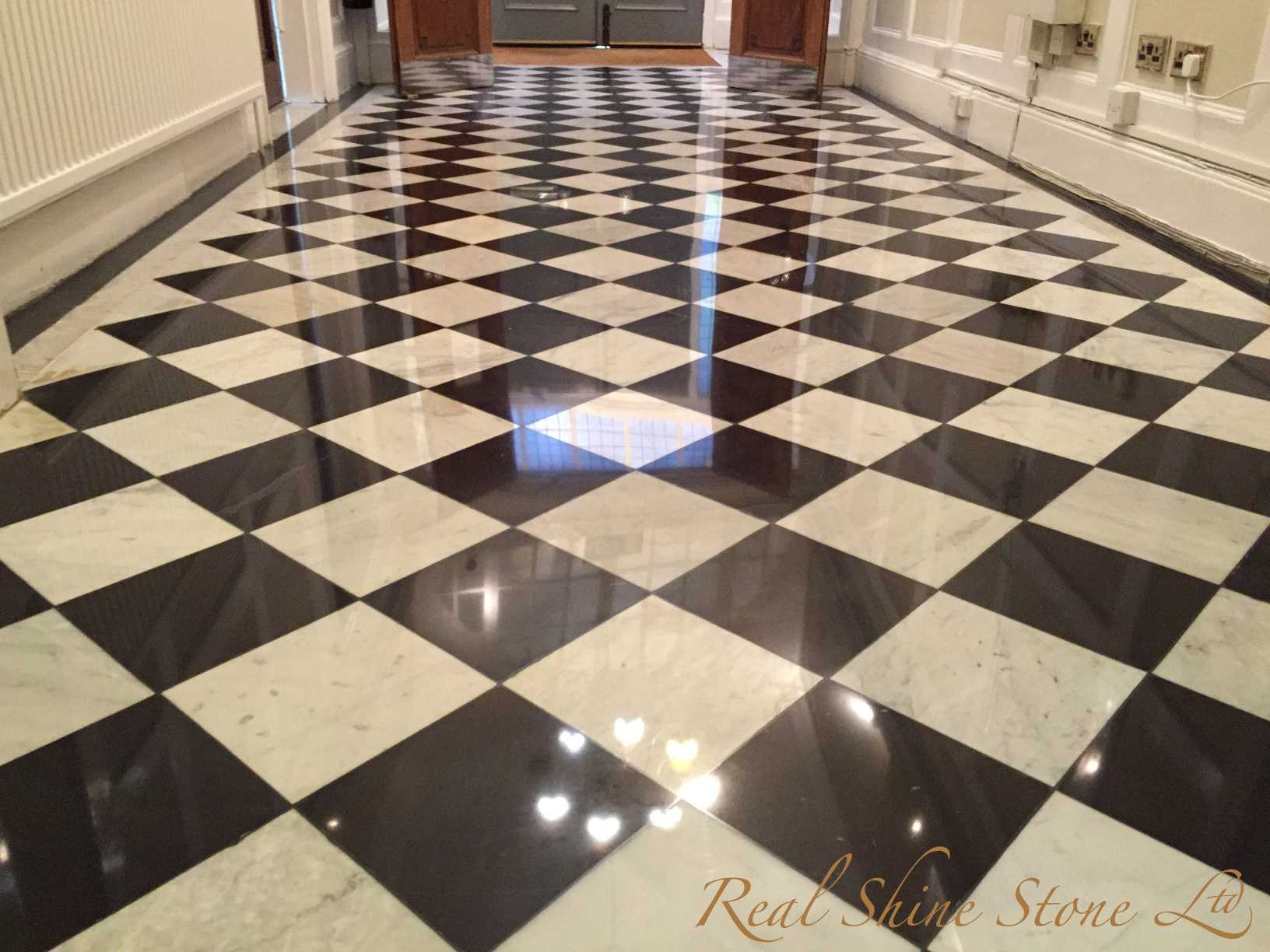 Black & White Marble Floor Restoration