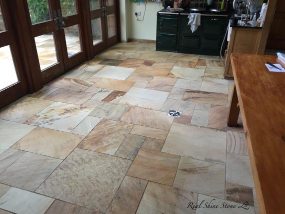Cleaning Indian Sandstone Floor