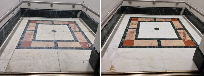 Marble Lift Floor Restoration