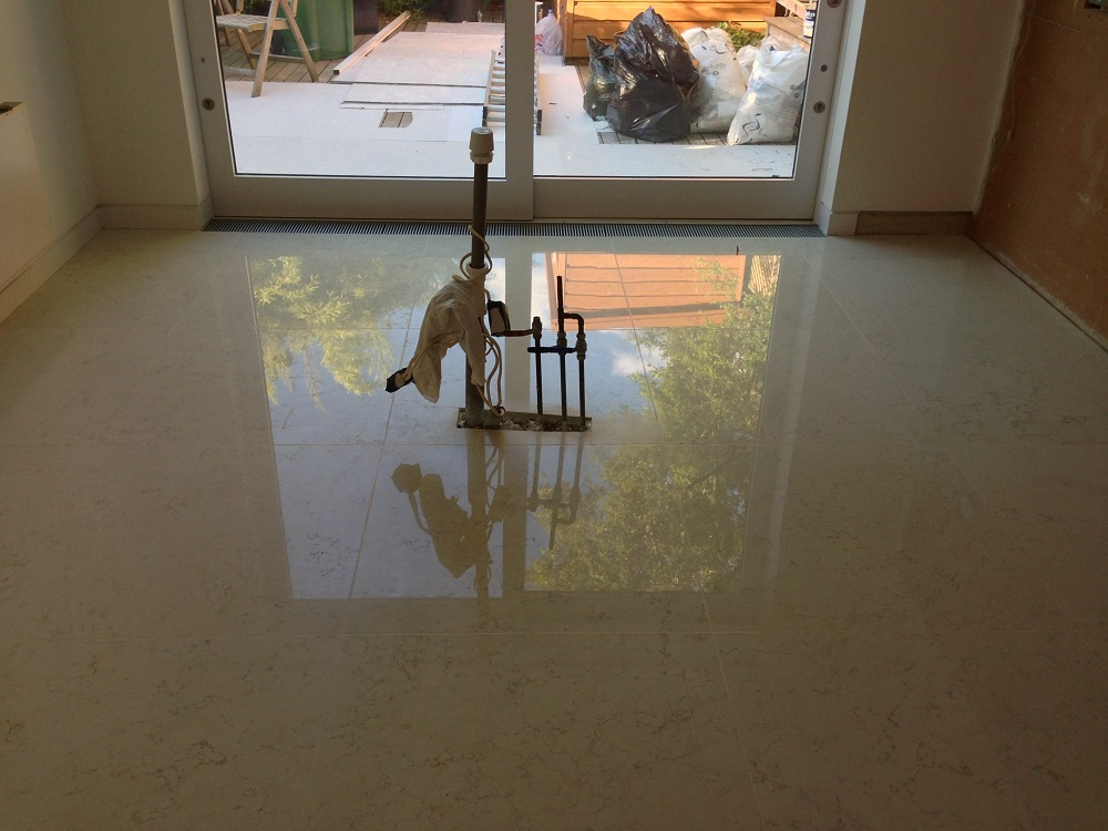 how to make marble floors shine