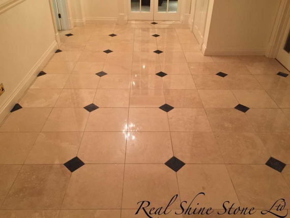 Image Travertine Floor Cleaning Stripping Polishing Hornchurch