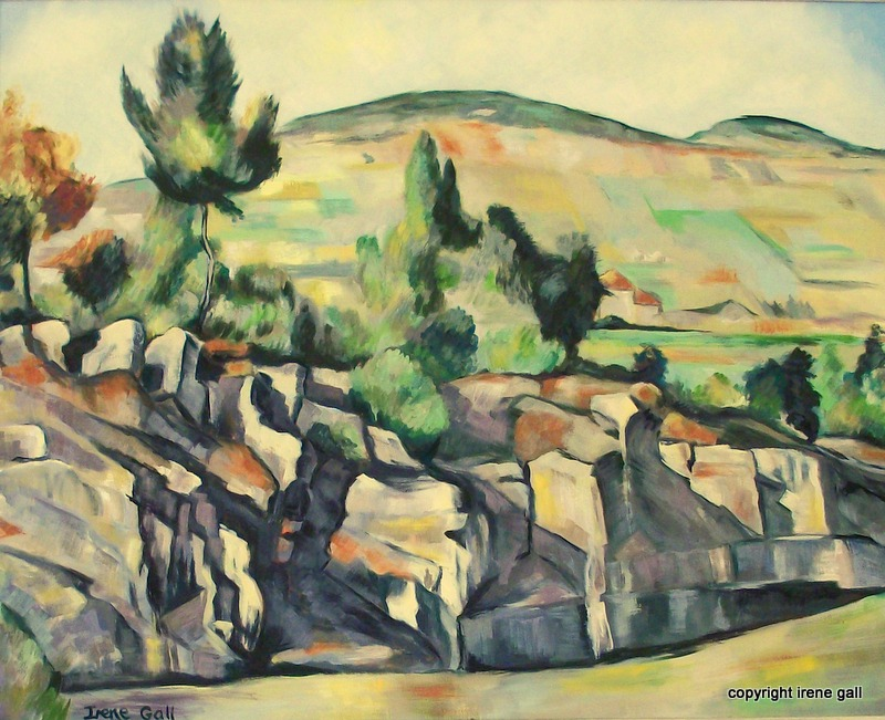 copy Cezanne's Hillside in Provence