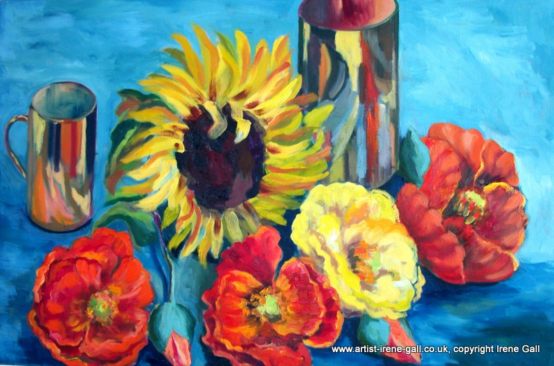 poppies, still life